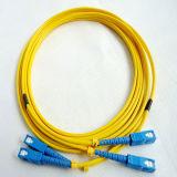 FTTH Sc 싱글모드 이중 광섬유 접속 코드