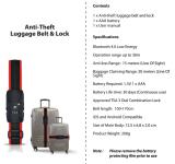 Tsa Riemen-Gepäck-Verschluss mit Digit&Belt Verschluss durch Dial