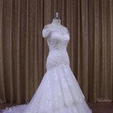 Vestido de casamento atrativo do Neckline do barco do estilo