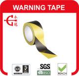 Черная желтая лента PVC опасности