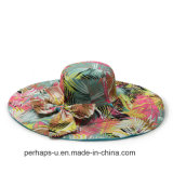Wide a doppia faccia Bill Cotton Beach Hat con Bowknot Design