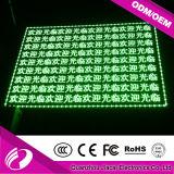 Rusia caliente P10 venta señal verde LED monocromo
