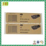 Papel impreso aduana y etiquetas adhesivas plásticas