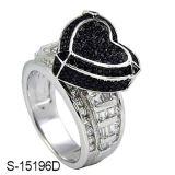 공장에 의하여 주문을 받아서 만들어지는 디자인 다이아몬드 반지 은 925