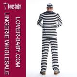 Hot Sale Man Jail Prisoner Costume Carnival Costumes L15314