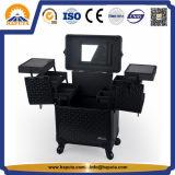 까만 직업적인 미용사 메이크업 트롤리 상자 (HB-2017)