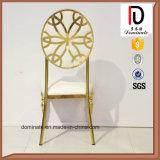 Стул столовой высокого качества валика золотистой рамки белый