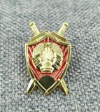 Emblema Shaped personalizado relativo à promoção do metal do esmalte
