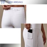 Kundenspezifischer Sport-aktiver Abnützung-Großverkauf hohe Qualtiy Yoga-Hosen mit Tasche