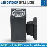 A boa luz ao ar livre 18W do pátio da qualidade IP65 esquadra acima e mura para baixo a luz