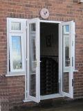 Puerta de oscilación del diseño del cuarto de baño de Pnoc080224ls con el vidrio helado