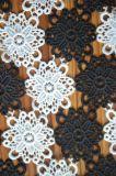 Tela nova do laço do poliéster do estilo com bordado para Dressing e matéria têxtil Home da senhora