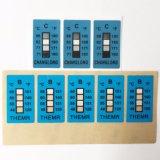 과민한 변경 색깔 레이블 66 도 서류상 PVC 정연한 온도 표시기 스티커 열