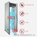 Detetor de metais inteligente do procedimento da segurança do toque de 6 zonas com o diodo emissor de luz para o controlo de segurança Xld-a