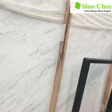 Brame de marbre blanche en pierre normale de vente chaude pour l'étage de salle à manger