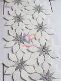 内壁の装飾(CFS1180)のための灰色および白い大理石の花のモザイク