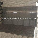 Polido Natural Preto / vermelho / cinza granito para revestimento, Escadas, bancada