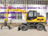 Máquina de carregamento de madeira do carregador do Sugarcane de Hydralic de 8 rodas