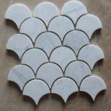 Das schöne einfache Tapeten-Baumaterial installieren Lowes dekoratives Carrera Marmormosaik