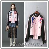Späteste kurze Baseball-Umhüllung der Umhüllungen-Entwurfs-Frauen-Dame-Spring Autumn Fashion Embroidery