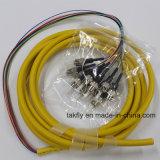 1m LC Upc aan pvc 9/125 van LC Upc OS2 de Duplex Single-Mode 3.0mm Kabel van het Flard van de Vezel Optische