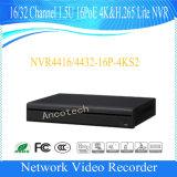 16poe (NVR4416-16P-4KS2)를 가진 Dahua 16 채널 1.5u 4k&H. 265 라이트 NVR