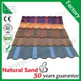 Matériau de construction chaud de vente de sable de toit en métal de feuille en acier en pierre de toit