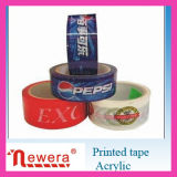 Printed Logo를 가진 BOPP Self Adhesive Clear Packaging Tape