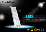 알루미늄 50W Light+Time+Phone APP 통제 시스템을%s 가진 태양 강화된 도로 빛