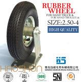 Hand-LKW-Reifen-Laufkatze-Reifen-pneumatisches Eber-Fußrollen-Rad 2.50-4