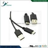 O USB datilografa o macho do cabo de dados C de C a USB2.0A/Male