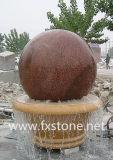 Шарик фонтана гранита, мраморный сфера, шарик гранита плавая