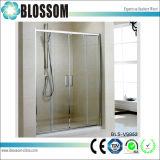 Moderno rectángulo rectangular cubículo de vidrio deslizante pared de ducha