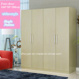 Walnuss-Ahornholz-weiße Panel-Garderobe