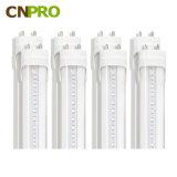 최고 밝은 T8 4FT LED 전구는 덮개 1200mm 18W LED 관 빛을 지운다