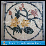자연적인 돌 대리석 모자이크 꽃 패턴/모자이크 패턴 마루 도와