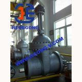 Valvola a saracinesca industriale della flangia dell'acciaio di getto dell'azionatore dell'olio di API/ANSI/JIS
