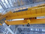 Doppelter Träger-obenliegender reisender Kran des Qd-Aufhängungs-Brückenkran-5~50t mit elektrische Hebevorrichtung-anhebender Maschinerie für Werkstatt