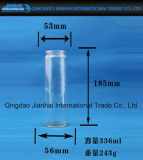 De lange Fles van het Glas voor de Houder Deoration van de Kaars