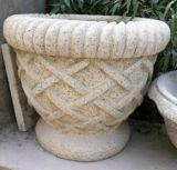 Pierre de marbre élégante de sable de Flowerpot