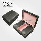 Коробка роскошных кожаный ювелирных изделий упаковывая