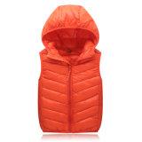 Оптовая Stock Nylon с капюшоном тельняшки куртка вниз на дети 602