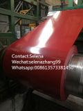 Chapa de aço ondulada vermelha de amostra livre para a telhadura