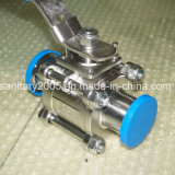 Ss304のステンレス製のSteel PTFE Encapsulated Triclamp Ball Valve