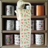 El tocador de la Navidad limpia el tejido de cuarto de baño impreso del papel higiénico de la novedad