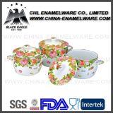 Europäischer Standard Eco freundliches Kosten-Eisencookware-Set mit kundenspezifischem Firmenzeichen