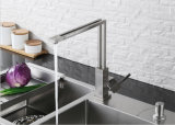 Taraud d'eau de bassin de robinet de cuisine d'émerillon de grand dos de fini de chrome