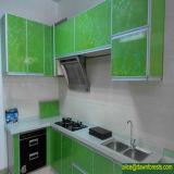 Kitchenのヨーロッパ式PVC MDF Cabinet