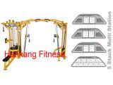 Maquina de musculação, equipamento de ginástica, máquina de ginástica, estação de pilha 5 estações + Crossover PT-832