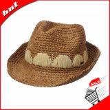 100% 자연적인 F=Raffia 밀짚 모자, 중절모 모자, 파나마 모자